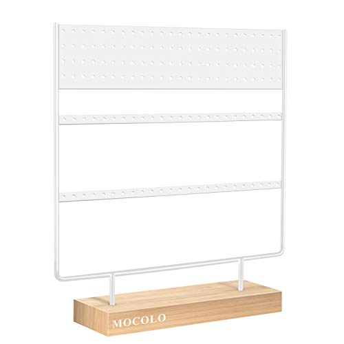 Mocolo Earring Organiser Stand, Ear Stud Display Holder Stand, Earring Holder Stand for Hanging Ear Studs Earrings(144 Holes)