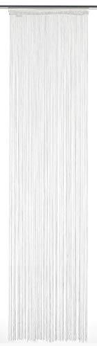 Gardinia Flächenvorhang Stoff Fadenstore weiß 60 x 245cm, Vinyl, 60 x 245 cm
