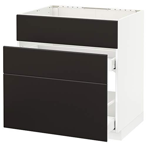 METOD/Maxim bashytt för handfat + 3 fronter/2 lådor 80 x 61,6 x 88 cm vit/Kungsbacka antracit