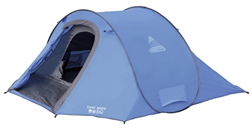 Vango Waterproof Dart Outdoor Pop-Up Tent available in Blue - 3 Persons