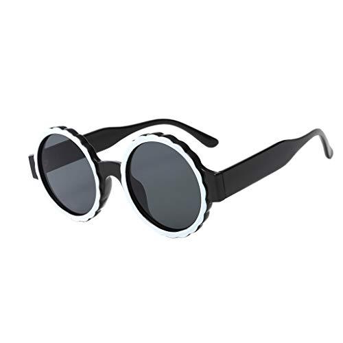 Storerine Damenmode Runde Hippy Brille Rahmenmaske Sonnenbrille Integrierte hindern ultraviolette Gasbrille