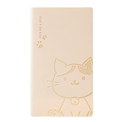 Bloc de notas de dibujos animados A6 Mini cuaderno de cuero de la PU Bloc de notas del plan de cuaderno de bolsillo