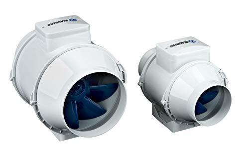 Rohrventilator D100 / 125/150 Blauberg Turbo-E Ventilator 2 Stufen Grow Abluft 100mm Durchmesser