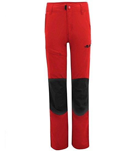 Trollkids Pantalones de Trekking para Niños Hammerfest Slim Fit, Color Rojo Talla 3 años (98cm)