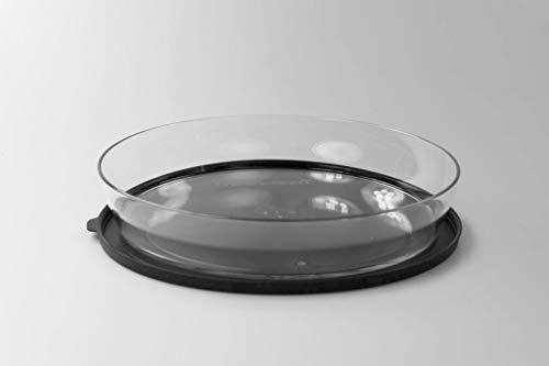 Tupperware Clear Collection 2,0 L flach schwarz Schale Classic Royal Tafelperle 37620