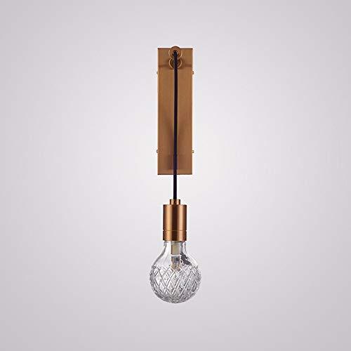 WarmHome Nórdico Postmoderno Minimalista Salón Personalidad Restaurante Estudio Oficina Tallado Vidrio Arte Lámpara De Pared