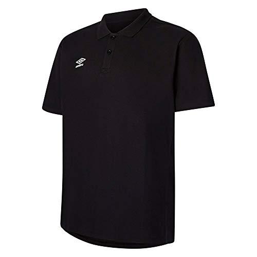 Umbro Fußball Club Essential Poloshirt Fußballshirt Herren schwarz Gr L
