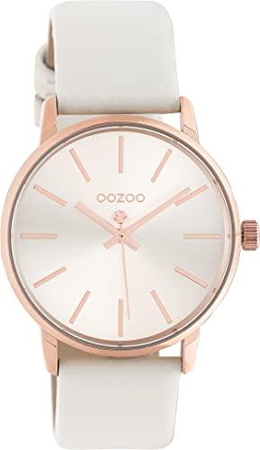 OOZOO Timepieces C10720 - Reloj de pulsera para mujer con correa de piel de 18 mm, reloj de alta calidad para mujer, elegante y analógico