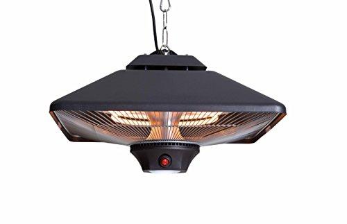 Sunred Suspension modèle Square 2000 W halogène and Light, Noir, 43 x 43 x 27 cm, ce17sq de B