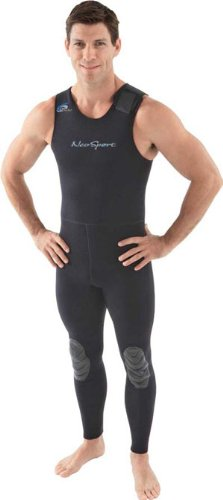 NeoSport Wetsuits Men's Premium Neoprene 3mm John, Black, Large - Diving, Snorkeling & Wakeboarding