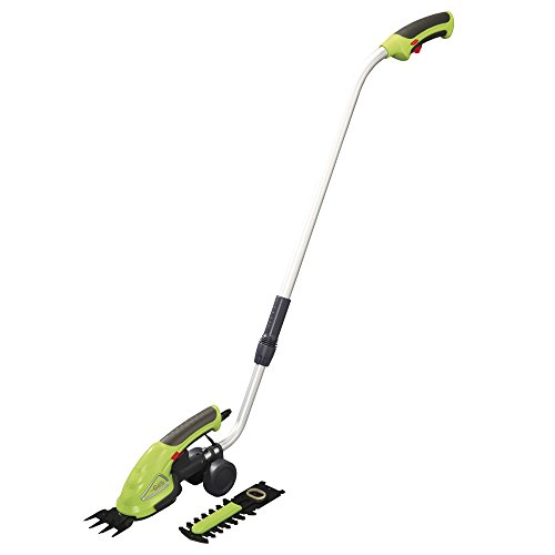 Garden Gear Garden Hedge Trimming Cordless Shears Lightweight Handheld 3.6V with 80mm Cutting Blade (Trimming Shears with Extension Handle)