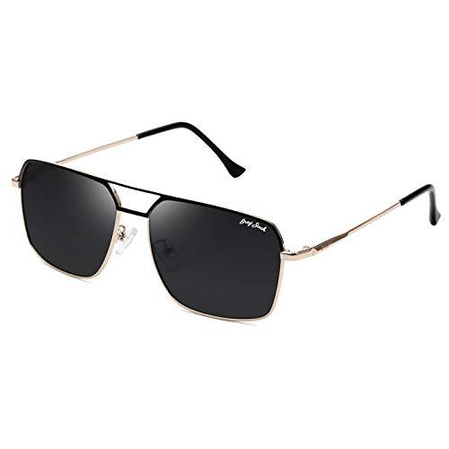 XINMAN Gafas De Sol A Prueba De Viento De Moda Gafas De Sol Polarizadas para Mujer De Moda Gafas De Sol Cuadradas De Metal