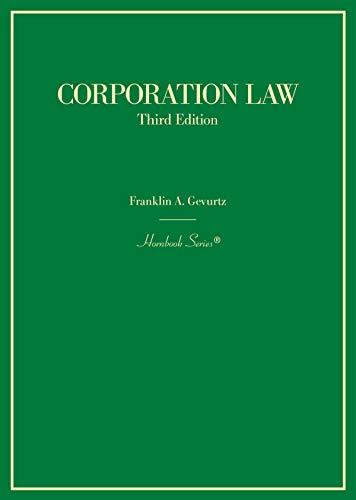 Corporation Law (Hornbooks) (English Edition)