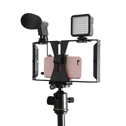 NICERIO Equipamento de Vídeo para Smartphone – Estabilizador de Telefone, Gravação de Vídeo, Suporte de Tripé Estabilizador de Celular Compatível com Celular