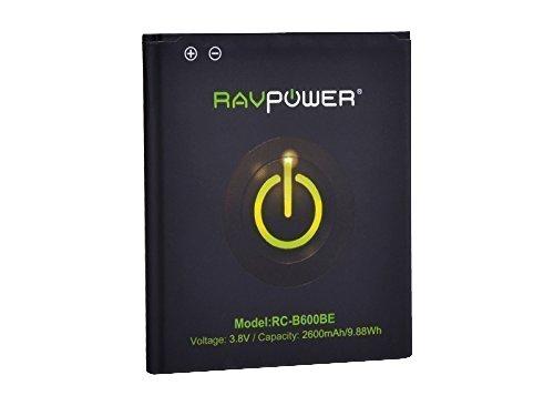 RAVPower Batteria Galaxy S4 Batteria 2600mAh di Ricambio,GT-i9500, GT-i9505,GT-i9515 con NFC