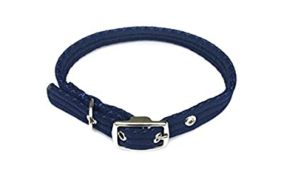 """Church Products UK Soft Padded Puppy Dog Collar Adjustable Comfortable Air Webbing (Navy Small (13""""-16"""") Neck Size)"""
