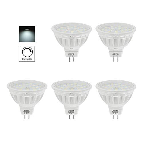 Aiwode(Lot de 5) Dimmable Ampoules LED MR16 GU5.3 Spot,5W Equivalent 50W Blanc Froid 6000K 600LM RA85,Compatible avec DC12V 36W LED Driver et 12V LED Gradateur.