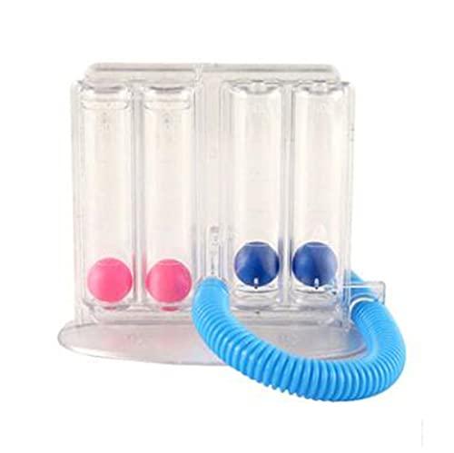 Dispositivo de entrenamiento de respiración de capacidad vital, probador de función pulmonar, instrumento de cuatro bolas, ejercicio para fortalecer la respiración adultos mayores estudiantes de niños