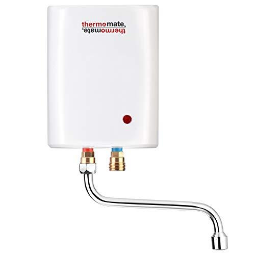 Thermomate ELEX3S Mini Calentador de Agua Instantáneo Eléctrico sin Tanque, para Cocina Baño, Instalación Sobre o Bajo Lavabo, Blanco