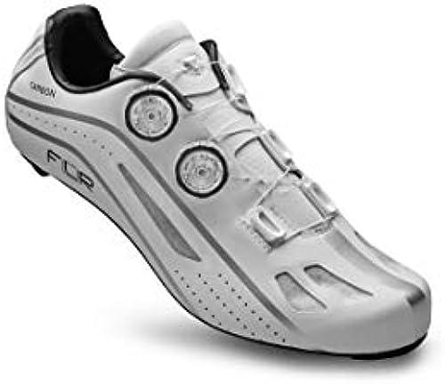FLR F-XX Rennradschuhe Shimano SPD für Profi Shimano SPD atmungsaktive Weiß Klickschuhe Carbon Sohle Mountainbike
