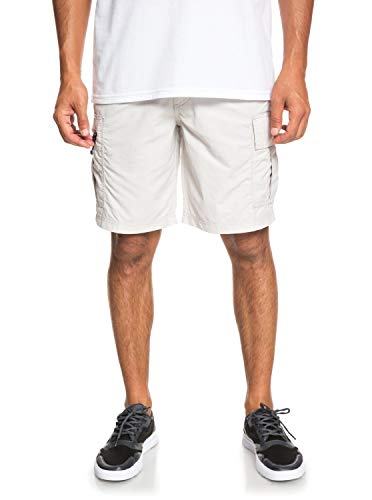 Quiksilver Herren Skipper Walk Shorts Cargohose, Lunar Rock, 46