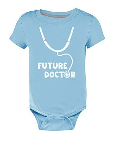 Body de Manga Corta para bebé - Future Doctor - Regalo para Recien Nacidos 9-12 Mes Celeste