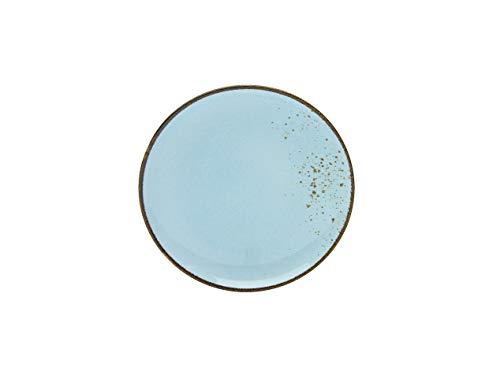 Creatable, 6-er Dessertteller 21 cm, Nature Collection, LIGHTBLUE 22067, Steinzeug, blau