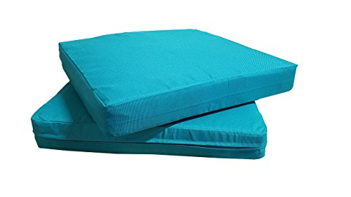 QQbed Patio Cushion Covers for Outdoor Deep Seat Lounge (20X18, Teal)