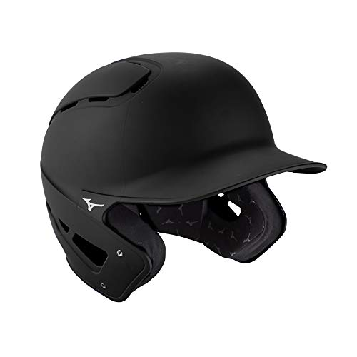 Mizuno B6 Adult Baseball Batting Helmet, Black, Large/X-Large