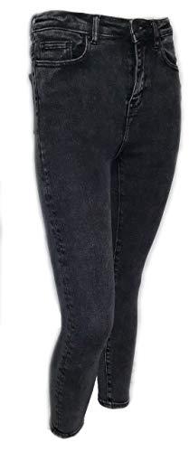 jeans donna farfallina capriccio Jeans Farfallina Donna Elasticizzato Ragazza Morbido Nero Slavato Aderente Vita Alta (l