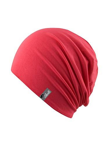 Tendance léger et fin en jersey Bonnet pour homme et femme – Unisexe - Rouge - Taille Unique