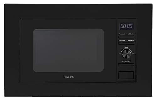 Wolkenstein WMW800-20GB EB - Microondas empotrado (800 W, grill 900 W), color negro