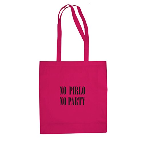 Planet Nerd No Pirlo No Party - Stofftasche/Beutel, Farbe: pink