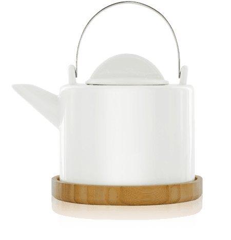 KUSMI Tea / Løv ORGANIC - Porzellan Løvely Teekanne / Teapot - Kapazität: 1,2 Lt