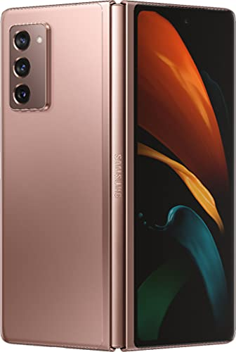 Samsung Electronics Galaxy Z Fold 2 5G | Factory Unlocked Android Cell Phone | 256GB Storage | US Version Smartphone Tablet | 2-in-1 Refined Design, Flex Mode | Mystic Bronze (Renewed)