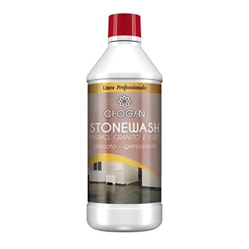 Stonewash Chogan Nettoyant au pouvoir désinfectant et auto-lustrant pour sols et surfaces en marbre, granit, terre cuite, grès cérame et autres surfaces en pierre et céramique, 750 ml
