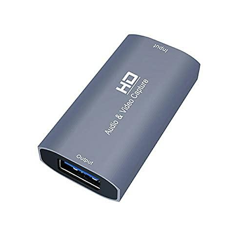 Grabación en vivo y caja de transmisión HDMI compatible con USB3.0 4K 1080P tarjeta de captura de vídeo para cámara de juego