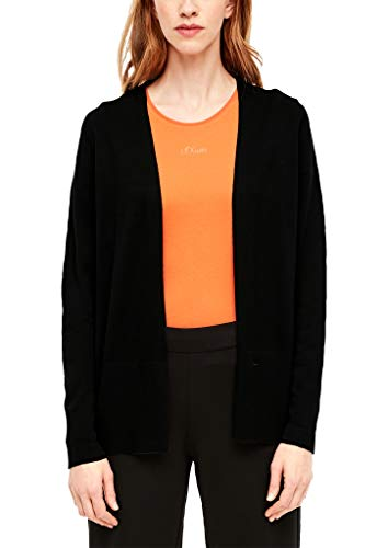 s.Oliver RED Label Damen Strickjacke in Unicolor Black 44