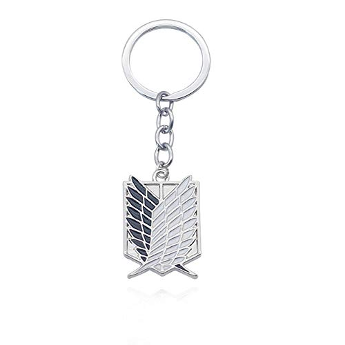 Attack On Titan Keychain Shingeki No Kyojin Anime Cosplay Wings Of Liberty Key Chain Ring Gifts Keychain Charms Silver