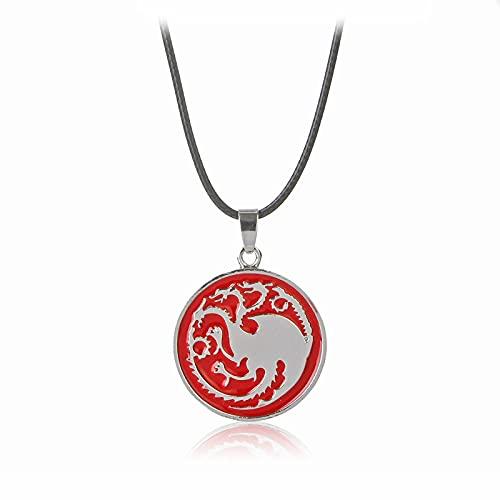 Joyería de personalidad del temperamento europeo y americano Una canción de hielo y fuego Juego de tronos Targaryen Dragon Emblem Collar Accesorios