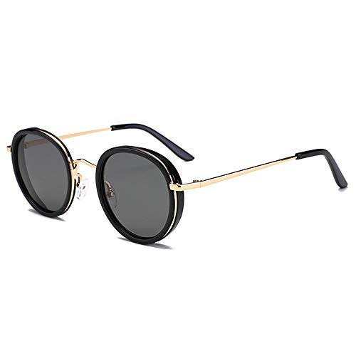 DKee Gafas de Sol Gafas UV400 Negro Moda Hombre Iones Negativos Gafas De Sol Gafas Gafas De Sol