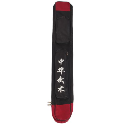 Chinese KungFu Taichi Martial Arts paulin Sword Bag Case (Black)