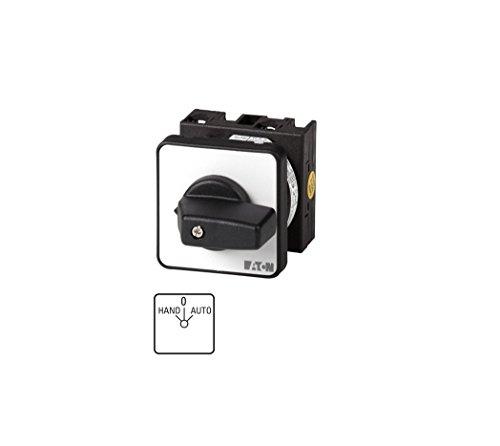 Eaton 034110 Umschalter, Kontakte: 4, 20 A, Frontschild: Hand-0-Auto, 45 Grad, Rastend, Einbau
