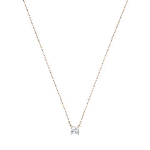 Swarovski Attract Halskette, Weiß, Rosé vergoldet
