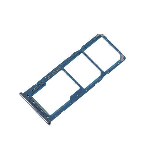 Bandeja doble SIM Micro SD para Samsung Galaxy A50 A505 / A30 A305 (azul)