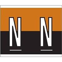 1-1/2 H x 1-1/4 W Brown/Black Kardex PSF-139 Compatible 1-1/4 Alpha Labels 'N' (500/Roll) - TBBS-139-N [並行輸入品]
