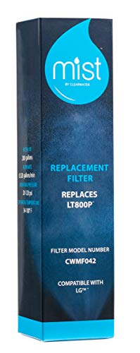 LG ADQ73613401 Water Filter Replacement, Compatible LG Models: LT800P, Kenmore 9490, 46-9490, 469490, ADQ73613402, LMXS30776S, LSXS26366S, 2 Pack - Mist