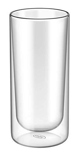 alfi 2420.006.000 Doppelwandglas glasMotion, Borosilikat-Glas XL 400 ml - 2er Set Isolierglas, Longdrink