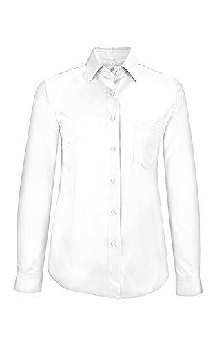 GREIFF Damen-Bluse   Elastisch   Comfort-Fit  New-Kent Kragen   Eine Brusttasche   Ganzarm   (36)