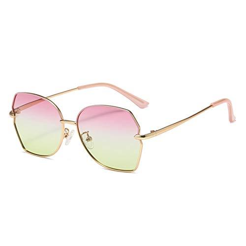 HQPCAHL Gafas De Sol para Niños Gafas De Sol para Niños UV400 Polígono De Metal Gradiente Gafas De Sol con Luz Polarizada Niños Niña De 5 A 16 Años,F